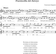 Fuentecilla del Arroyo. Cancionero Aragonés.