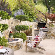 """Visit our site for additional information on """"outdoor kitchen countertops wood"""". It is actually an excellent location to read more. Kitchens wall You Need to See These Outdoor Kitchen Ideas Outdoor Rooms, Outdoor Living, Outdoor Decor, Outdoor Kitchens, Outdoor Cooking, Outdoor Ideas, Wall Fires, Outside Fire Pits, Outdoor Kitchen Countertops"""