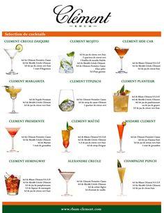 Rhum Clement Cocktail List