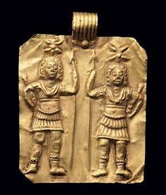 A Roman gold pendant. Circa 3rd century A.D.