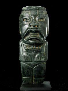 Olmec Jade Celt Depicting a Were-Jaguar Origin: Mexico Circa: 900 BC to 300 BC