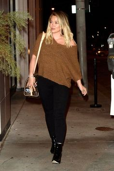 Hilary Duff - Seen leaving Catch in West Hollywood - 10/03/16