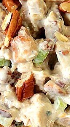 Orange Cashew and Pecan Chicken Salad ❊