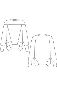 Buy the Sue Sweatshirt sewing pattern from Schnittchen Patterns. Sue is a casual sweatshirt with diagonal seams in the front. Fleece Pullover, Vintage Sewing Patterns, Pattern Sewing, Color Block Sweater, Fabric Manipulation, Sewing Clothes, Sewing Tutorials, Pattern Fashion, Cool Outfits
