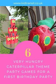 How to create 6 party games and activities ideas for a Very Hungry Caterpillar theme first birthday party. First Birthday Party Themes, Kids Party Themes, Party Activities, Party Ideas, Infant Activities, 3rd Birthday, Hungry Caterpillar Games, First Birthdays, Tortoise