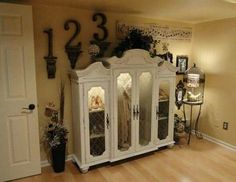 China hutch upcycled into a display case