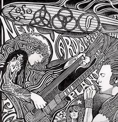 Led Zeppelin Art, Led Zeppelin Poster, John Bonham, Rockn Roll, Jimmy Page, Robert Plant, Ink Pen Drawings, Fun Comics, Concert Posters