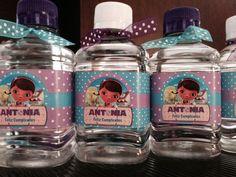 Botellas de agua de la doctora juguetes #anacanoafiestas