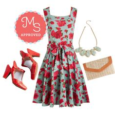 Guest of Honor Dress in Rose Garden by modcloth on Polyvore featuring polyvore fashion style Effie's Heart Miz Mooz outfit ootd modcloth