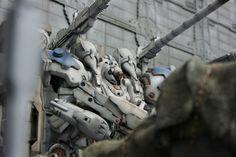 GUNDAM GUY: Gunpla / Armored Core Kit Bash Diorama - Diorama Build