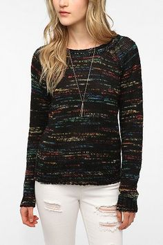 I really like this sweater.    Sparkle & Fade Rainbow Marl Pullover Sweater