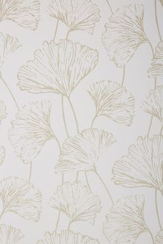 Feature Wall Anthropologie Ginkgo Reverie Wallpaper How Landscape Paintings Can Brighten Up The Home White Pattern Wallpaper, Bold Wallpaper, Black And White Wallpaper, Black And White Canvas, Colorful Wallpaper, Peel And Stick Wallpaper, Wallpaper Backgrounds, Iphone Wallpaper, Calendar Wallpaper