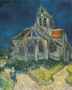 Vincent Van Gogh - L'église d'Auvers sur Oise - 1890