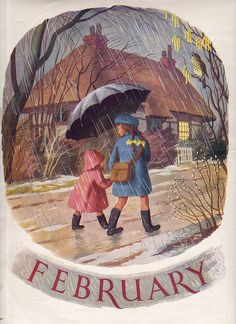 For late winter/early spring stories . Images Vintage, Vintage Pictures, Vintage Art, February Baby, Happy February, February Calendar, February 2016, Seasons Months, Months In A Year