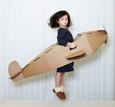 Cardboard Plane by Paperpod Cardboard Airplane, Cardboard Toys, Diy For Kids, Crafts For Kids, Fun Crafts, Paper Crafts, Airplane Party, Airplane Costume, Kids Furniture