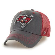 buy online 449e2 25e8a Tampa Bay Buccaneers Taylor Closer Graphite 47 Brand Stretch Fit Hat -  Great Prices And Fast Shipping at Detroit Game Gear