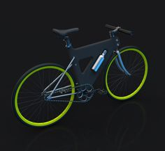 """Placha, by Korean designer Jaemin Jaeminlee: """"I wanted to design a bike that is lightweight, stylish and inexpensive at the same time,"""" says Jaemin Jaeminlee. """"For this, I found that the plastic was the best material"""". The plastic frame does not need to be painted and is recyclable http://www.jaeminjaeminlee.com/portfolio/placha"""