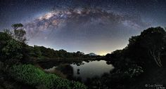 Réunion Island Photo: Milky Way Over Piton De l'Eau By Luc Perrot Is Stunning