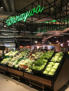 Carrefour Polska Light overheads identifying a department