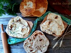 Indiai kenyér lexikon - Helló Curry! Bread, Naan, Curry, Food, Curries, Brot, Essen, Baking, Meals