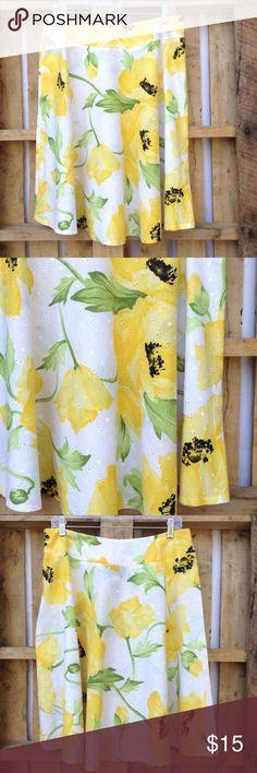 "🆕 Sag Harbor eyelet skirt Beautiful bold colors! Side zipper, no lining 23"" ↕️ 16"" ↔️ waist with 2"" waistband about 40"" ↔️ hem Sag Harbor Skirts Midi"