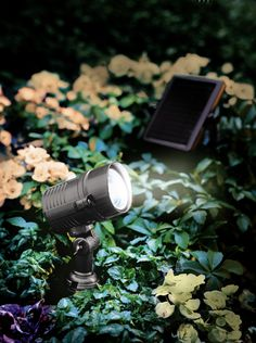 Superbright Solar Spotlight: Light output is 90 lux measured at 4-foot distance (12.3 foot candles) Wall, deck or ground mount. Ground stake included. Comes on automatically at dusk. Panel can be placed up to 15 feet away.**call/email to verify light is warm white NOT blue white.