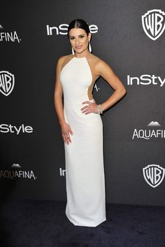 Lea Michele, post Golden Globes party, Michael Kors dress