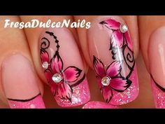 I show you on this videos how to make acrylic nails marble effect and how to create a rose. I hope you like this pink and girly manicure. Flower Nail Designs, Acrylic Nail Designs, Marble Acrylic Nails, 3d Rose, Prego, Simple Girl, Stylish Nails, Flower Nails, Creative Nails