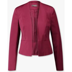 Businessblazer ($58) ❤ liked on Polyvore featuring tops and purple top