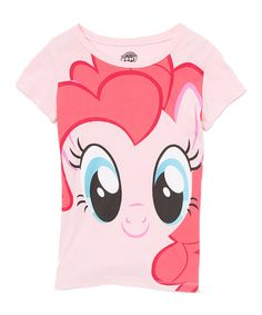 Another great find on #zulily! My Little Pony Big Pinkie Pie Face Tee - Girls by My Little Pony #zulilyfinds