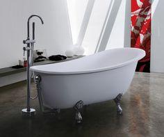 bathroom ideas, composite limestone and resin bath Stone Bath, Clawfoot Bathtub, Baths, Bathroom Ideas, Resin, Home Decor, Decoration Home, Room Decor, Home Interior Design