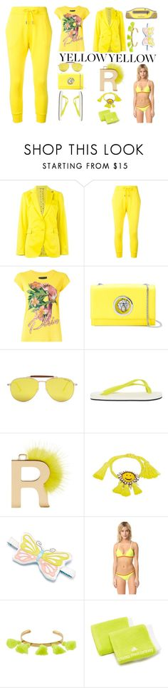 """Amazing look in yellow"" by gadinarmada-1 ❤ liked on Polyvore featuring Etro, Dsquared2, Philipp Plein, Versus, Tom Ford, Danward, Fendi, Shourouk, Morgan Lane and Rye"