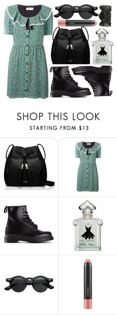 """street style"" by sisaez ❤ liked on Polyvore featuring Kate Spade, Yves Saint Laurent, Dr. Martens, Guerlain, MAC Cosmetics and Disney"