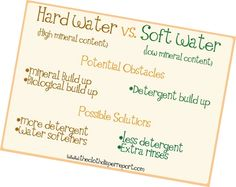 Transforming Hard Water To Soft Water