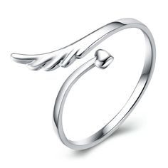 Unique Angel Wing Promise Rings (Hand Made)