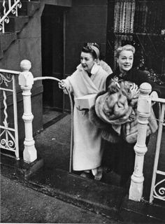 Gypsy Rose Lee is pictured with her sister, June Havoc, at June's Manhattan apartment in 1964, six years before Gypsy's death.