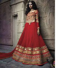 Queenly Designer Red Lehenga Choli