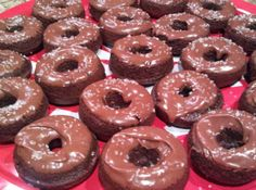 Mayan Mini Chocolate Donuts with Spicy Ganache Glaze