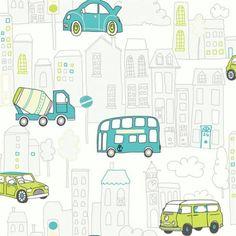 Arthouse Motor Mania Cars Buses Luxury Childrens Kids Wallpaper 533503