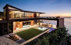 Architecture Beautiful Modern Contemporary Homes Sleek And Elegant Appearance With Ornamental Plants And Architecture Modern house design Modern architecture