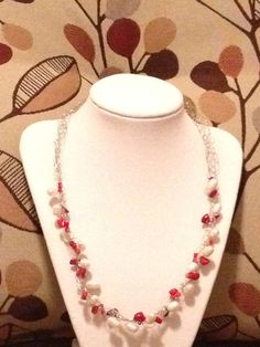 Silver Wire Crochet Fresh Water Pearl  with by LadybugCharJewelry, $22.00
