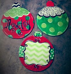 Christmas ornament personalized door signs