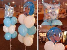 "Braduti din baloane ""Braduti"" realizati din 9 baloane latex umflate cu Heliu si un balon folie 45cm ""Ït's a girl/boy"" in varf.  In varf se mai poate pune un balon normal latex sau orice alt balon folie. Latex, Baby Boy, Orice, Pune, Mai, Boy Newborn"
