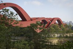 Completed in 2016 in Changsha Shi, China. Images by Julien Lanoo          . NEXT architects are working on a unique series of bridges all over the world. This time, their latest design isn't an intriguing bat bridge...