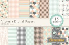 Victoria Digital Papers by Clementine Digitals on Creative Market