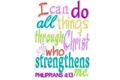 Philippians 4:13, Original Stitches