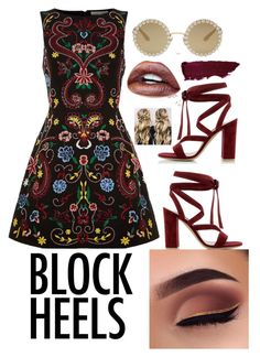 """""""block heels"""" by fashionfreakout18 ❤ liked on Polyvore featuring Gianvito Rossi, Alice + Olivia and Dolce&Gabbana"""