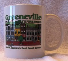 Cute Greeneville, Tennessee Mug at Central Drug Store in Towne Square Shopping Center
