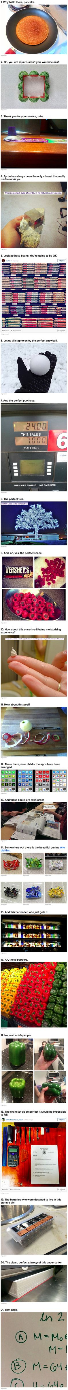 Everyday things done perfectly in an oddly satisfying way...