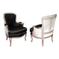 Beautiful Pair of Louis XV Bergeres Style | From a unique collection of antique and modern bergere chairs at http://www.1stdibs.com/seating/bergere-chairs/